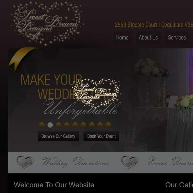 coquitlam web design sweetdreamdesigns